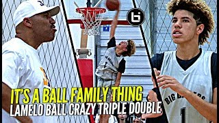 LaMelo Ball STEALS Lonzo's Shine w/ CRAZY TRIPLE DOUBLE vs Kevin Loves Old Team! It's a BBB Thing!