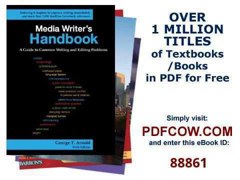 Media Writer's Handbook A Guide to Common Writing and Editing Problems