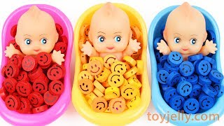 Baby Finger Family Song Learn Colors Baby Doll Smiley Candy Bath Time Surprise Eggs for KID Children