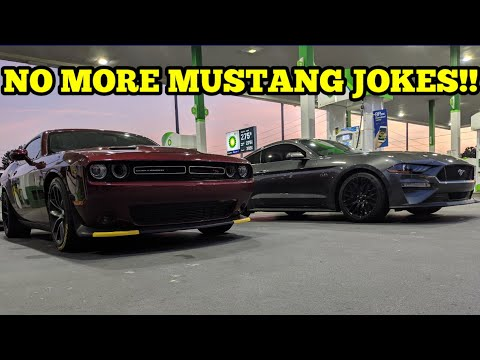2018 CHALLENGER SCATPACK VS. 2018 MUSTANG GT 10 SPEED AUTOMATIC!!! THE NEW GT IS INSANELY QUICK!!