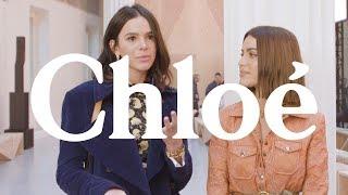 Bruna Marquezine & Camila Coelho Interview - Chloé SS20 Show