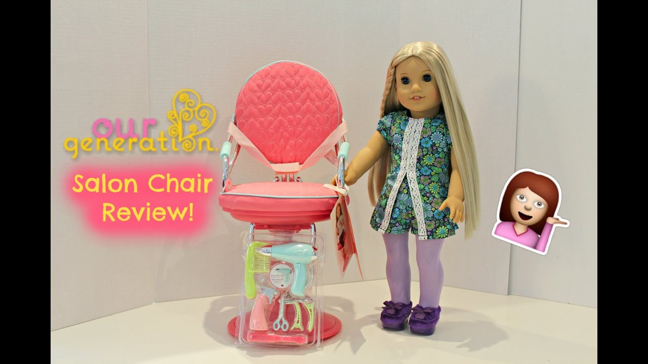 doll salon chair antique victorian folding rocking our generation review perfect for 18inch dolls youtube