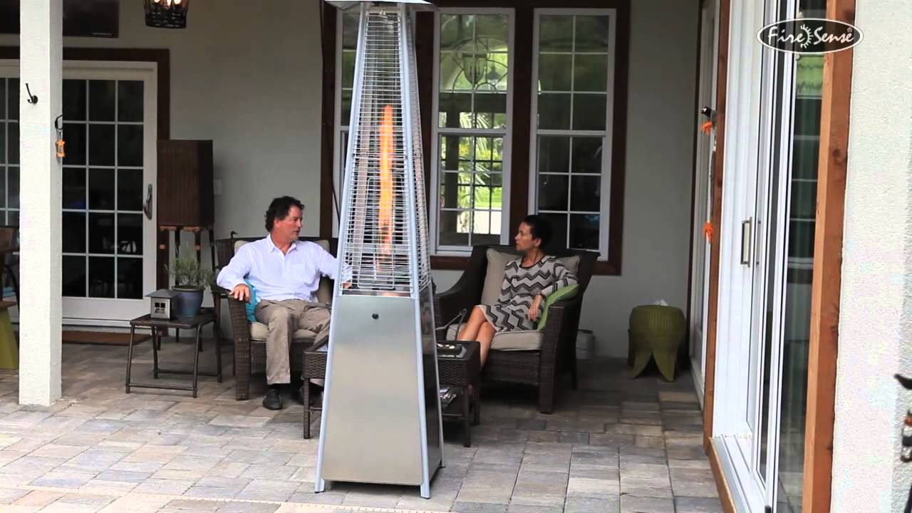 FireSense Stainless Steel Pyramid Patio Heater Item # 60523