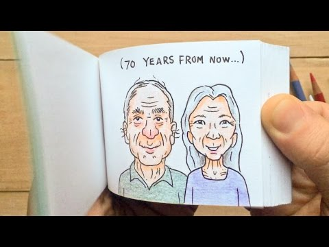 Reverse Marriage Proposal Flipbook Animation