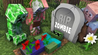 Monster School : RIP Zombie Challenge - Minecraft Animation
