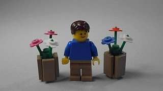 Lego Tutorial | How To Build A Potted Plant
