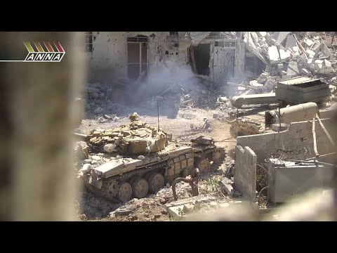 Эксклюзив ::::::: Дуэль ТАНКОВ ::::::: Сирия  Танковый бой в городе