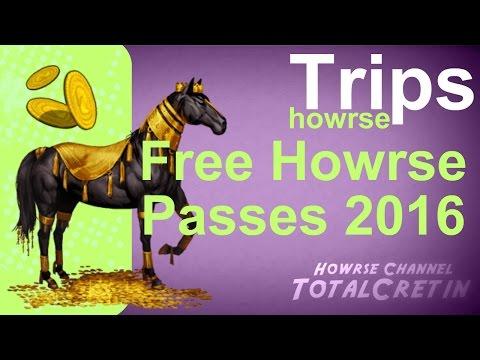 FREE HOWRSE PASSES 2016 - Howrse Trips
