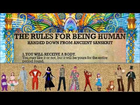 The Rules for Being Human - Handed Down from Ancient Sanskrit