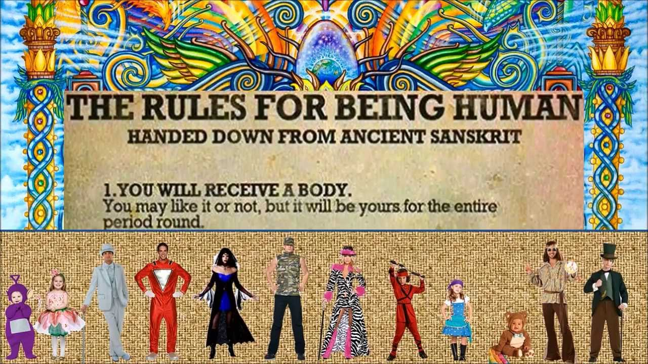 Image result for rules for being human