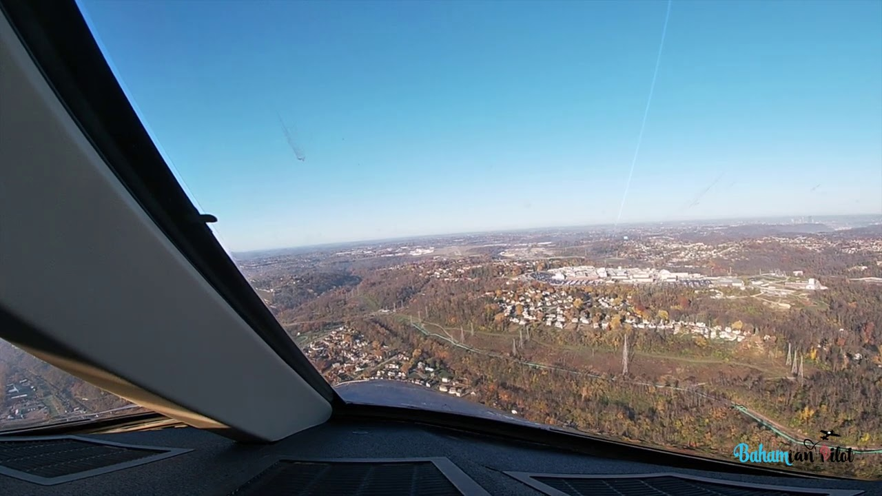 Evening Landing into Pittsburgh, PA