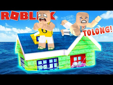 GILA!Tsunami terbesar menimpa kita!!! 😭 kita harus bertahan hidup mencari tempat tinggi!!