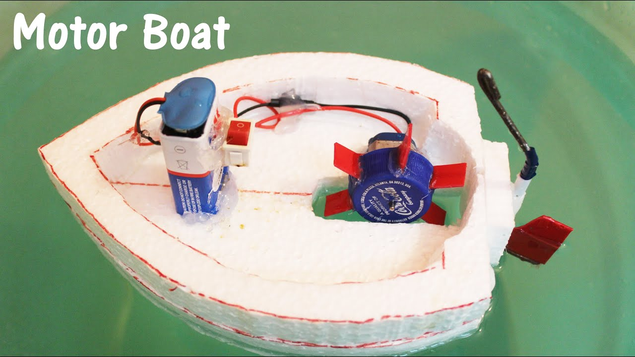 How to make an electric motor boat using thermocol and dc for How does an outboard motor work
