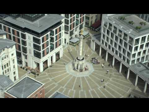 PATERNOSTER SQUARE FROM THE GOLDEN GALLERY ST PAUL'S CATHEDRAL