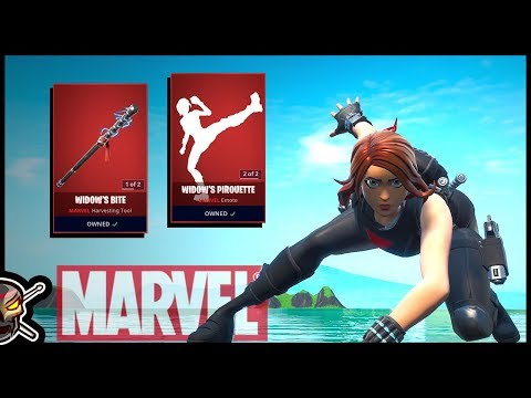 MARVEL'S BLACK WIDOW In Fortnite! Before You Buy COMPLETE Cosmetic Guide!
