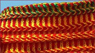 Кайма жаккардом спицами. Обвязка края спицами. Часть 1. Knitting Border. Part 1.
