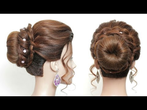 easy-bridal-bun-hairstyle-for-long-hair.-prom,-party-updo-tutorial