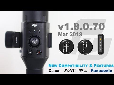 DJI Ronin-S Firmware Update 1.8.0.70   NEW Speeds?   Sony, Canon, Nikon, Panasonic