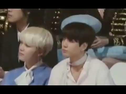 180110 Jungkook BTS fokus react to IU speech win Daesang GDA 2018