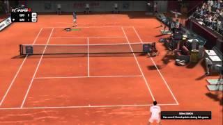Top Spin 4 - (1/2) Djokovic vs Simon (very hard AI)