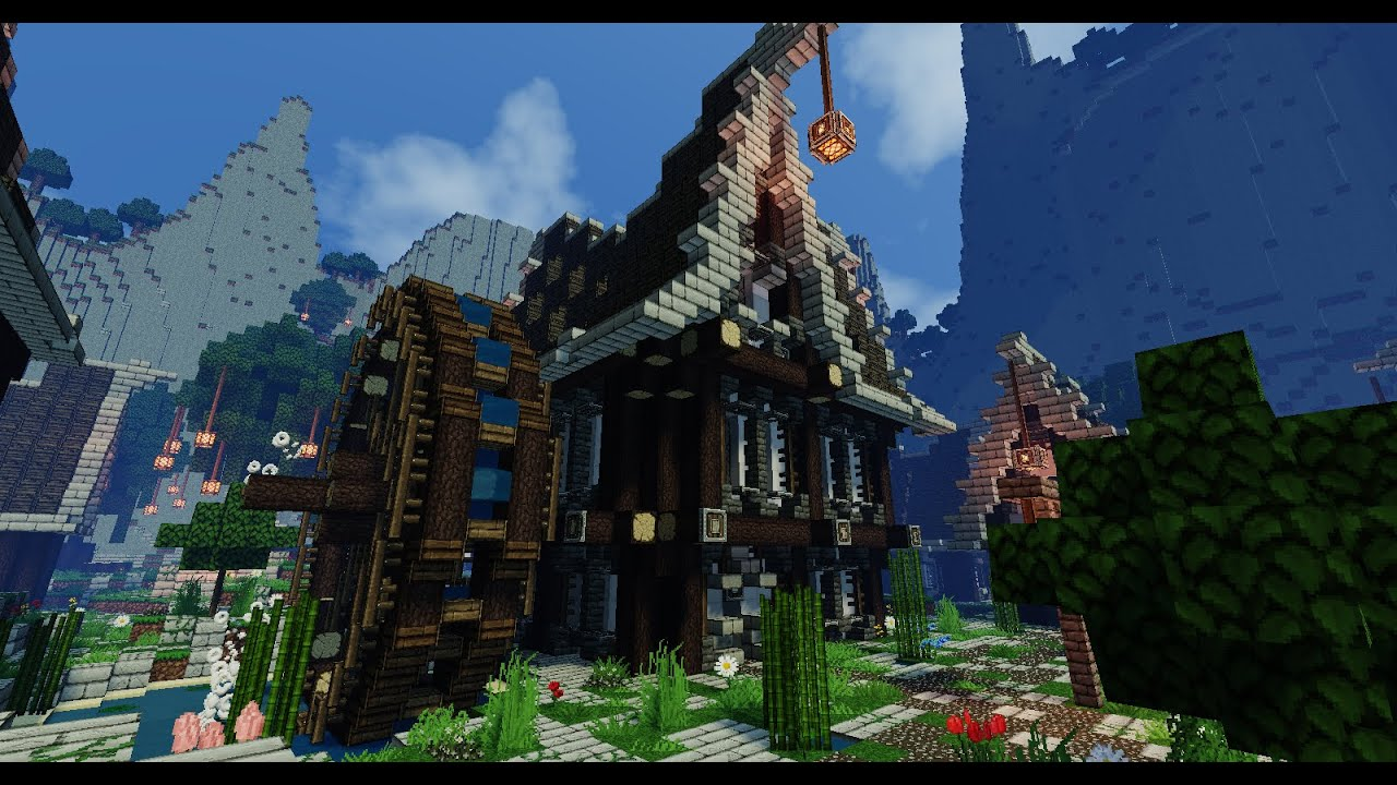 Tuto minecraft comment faire une maison medieval for Faire maison