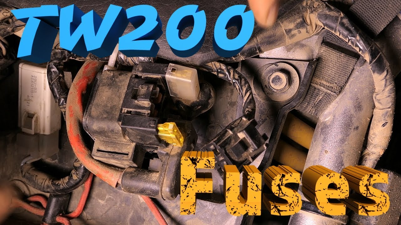 how to replace fuses on a tw200 and why they blow in the first place