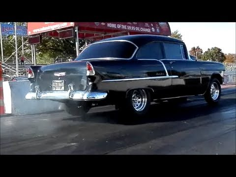 55 Chevy Burn Out Nice