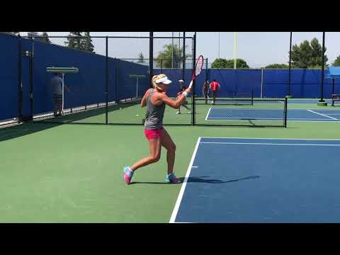 Kristina Mladenovic-Timea Babos Practice 7-28-18