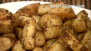 Oven Roasted Potatoes With Steak Spice Seasoning Side Dish Recipe