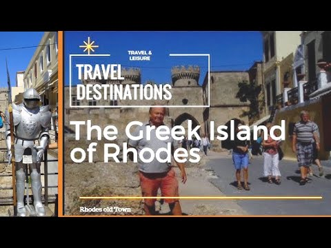 Popular Travel Destination of Rhodes Old Town and Harbour, Greek Island of Rhodes