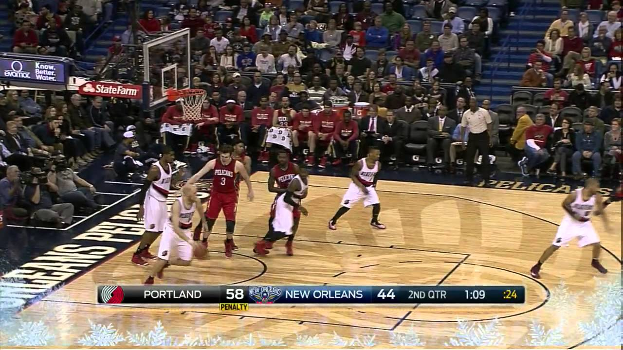 Chris Kaman Highlights Blazers Vs. Pelicans 12.20.2014 - 16 Points 6 Rebounds - YouTube