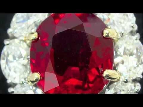 Important Kashmir Sapphire, Burma Ruby & Colombian Emerald Gemstones Cut by Cushion Gem Lapidary