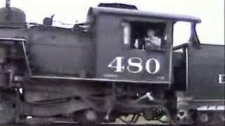 durango and silverton steam locomotive heading south