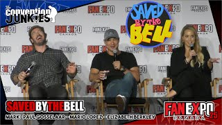 Saved by the Bell's Elizabeth Berkley, Mark-Paul Gosselaar & Mario Lopez - Fan Expo Canada 2019
