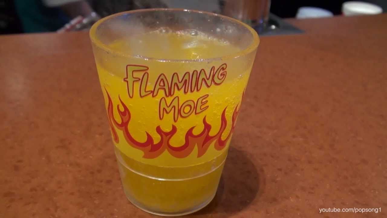 Flaming moe in springfield at moe 39 s tavern universal for Cocktail florida
