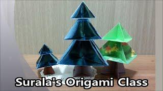 Origami - Christmas Tree / 종이접기 - 크리스마스 트리
