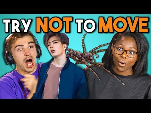 COLLEGE KIDS REACT TO TRY NOT TO MOVE CHALLENGE #2