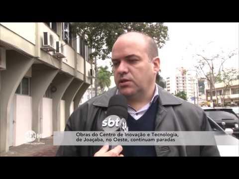 Em Joaçaba, obras no Centro de Inovação e Tecnologia continuam paradas