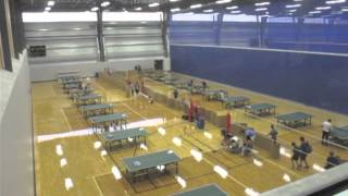 Edmonton Table Tennis: Bird's Eye View Of Time Lapse