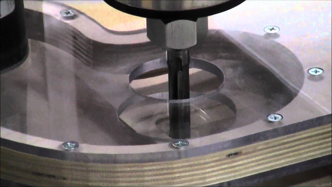 DIY CNC Router Dust Collector Shoe - Test 1 2016-11-23