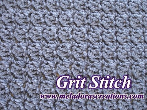 Crochet Stitches Tutorial Youtube : The Grit Stitch - Crochet Tutorial - YouTube