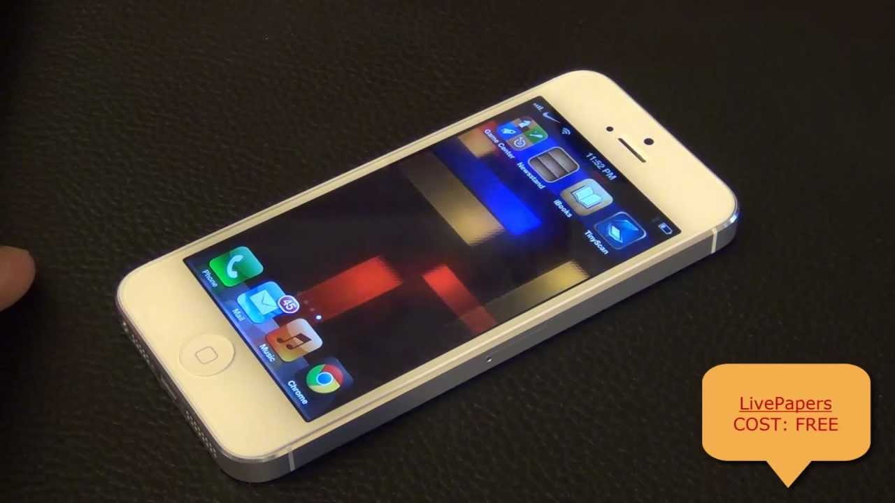 Live Wallpaper for iPhone 5 or 4: LivePapers from the Top Cydia Jailbreak Tweaks - YouTube