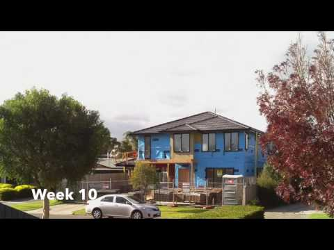 Building double storey house Timelaps