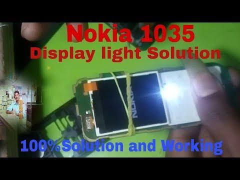 Nokia 1035 Dispaly Light Solution nokia 103 dispaly light jumper