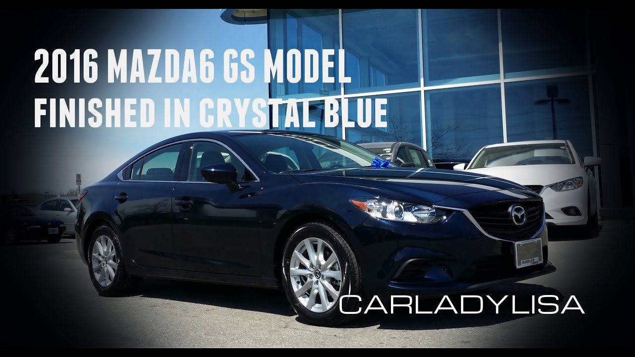 2016 mazda6 gs finished in crystal blue mica incl interior