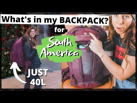 WHAT'S IN MY BACKPACK FOR SOUTH AMERICA? 🎒4 Months In 40L (Eagle Creek Global Companion)