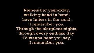 Skid Row I Remember You with lyrics YouTube Videos