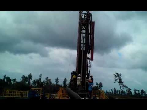 Belize Operations - San Juan #3 - Pulling Drill String