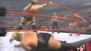 Steve Austin vs Kurt Angle and Rikishi (Triple-H Turns Heel)