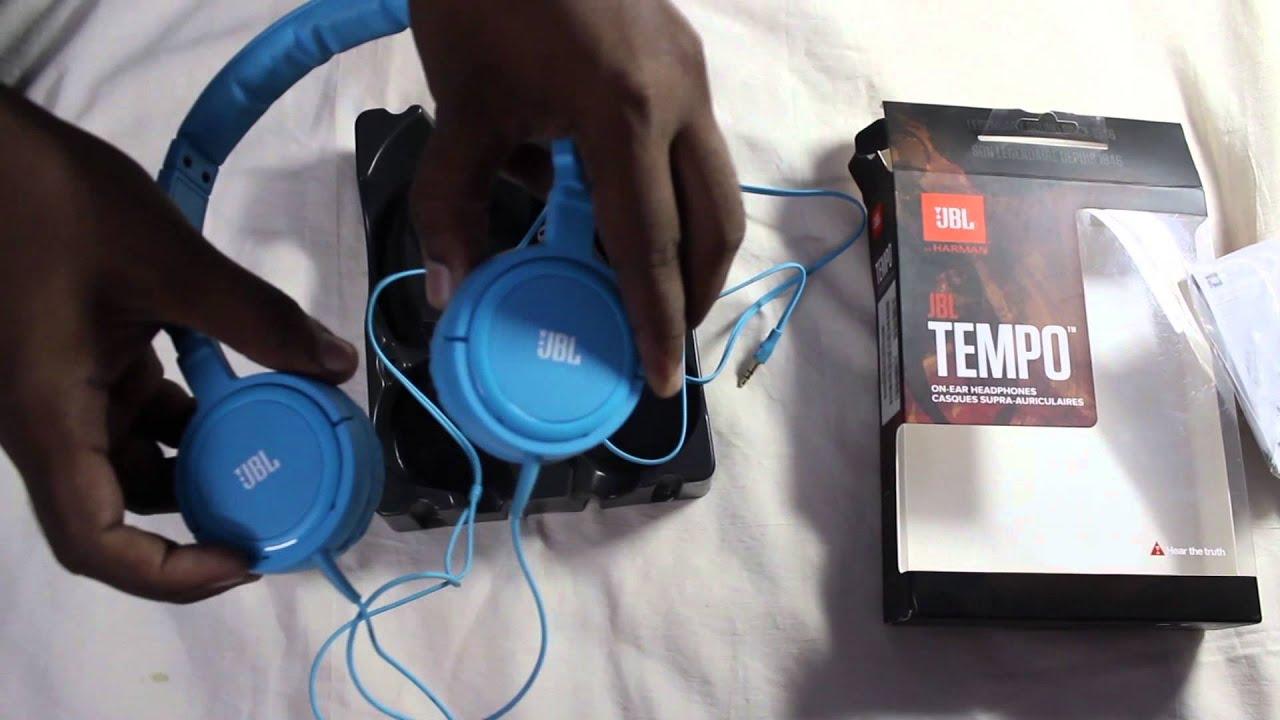 2f75f198ef1 JBL Tempo on-the-ear J03U Headphone (Blue) [Review] - YouTube